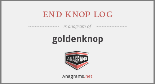 end knop log - goldenknop