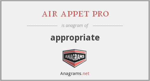 air appet pro - appropriate