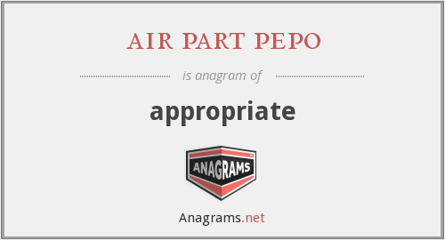 air part pepo - appropriate