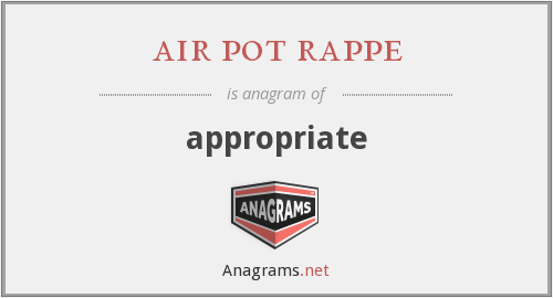 air pot rappe - appropriate
