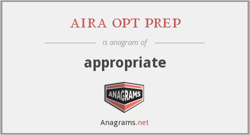 aira opt prep - appropriate