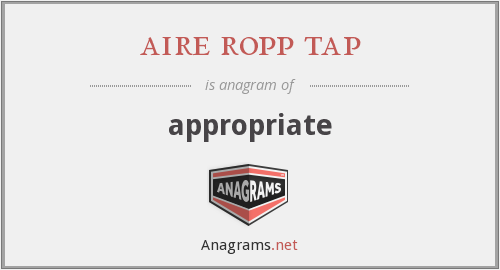 aire ropp tap - appropriate